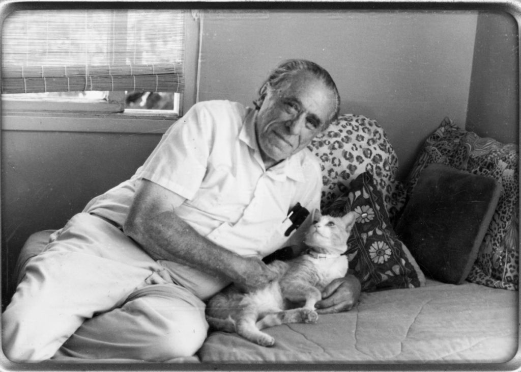 Bukowski with cat