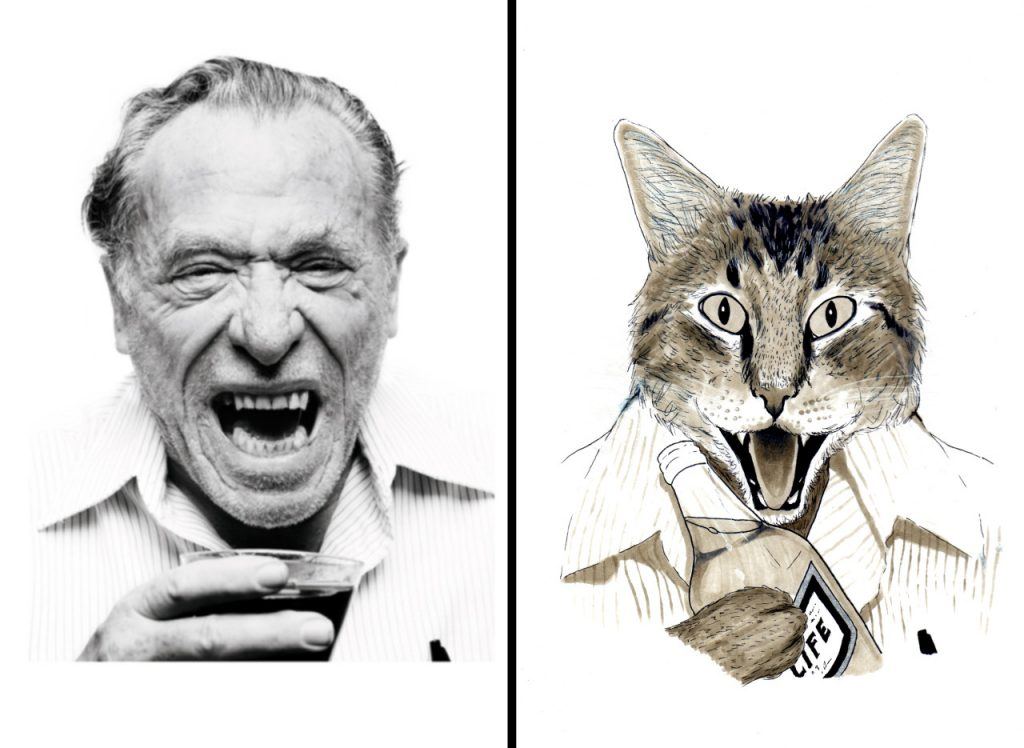 Charles Bukowski pet proper by Dorian Wood